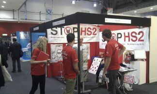 Stop HS2 stand busy. Can't say the same about the neighbours!