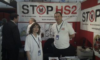 Penny & Joe on the Stop HS2 Stall