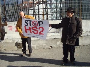 Stop HS2 poster in Italy