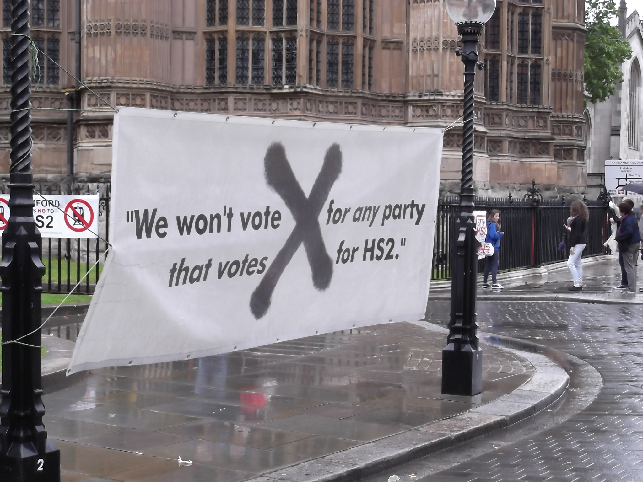 """We won't vote for any party that votes for HS2"""