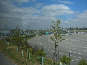 Empty car park at Ebbsfleet 30th July 2011