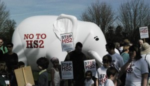 Ellie and Stop HS2 supporters go for a walk