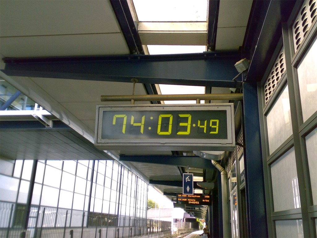 The clock at the HS1 station in Ashford which the HS2 timetable seems to be based on.