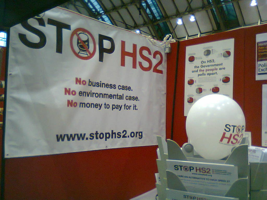 STOP HS2 Stand at Labour Party Conference 2012