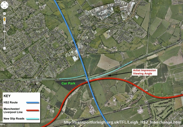 Transport for Leigh proposed HS2 interchange