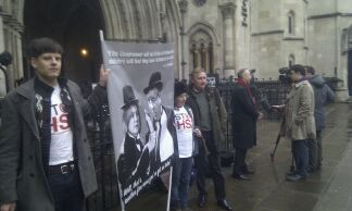 Photo call outside Royal Courts of Justice