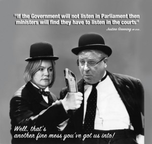 """If the Government will not listen in Parliament then ministers will find they have to listen in the courts"""