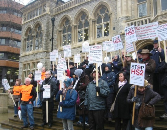 Protesters at Ealing Town Hall