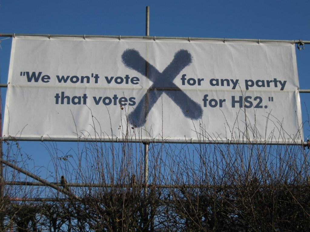 Banners like this have been up in the area around Chequers for a few years now.