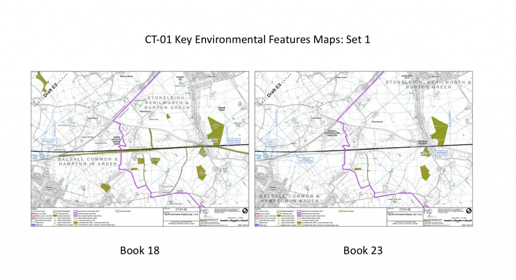 Shows differences in map CT-01-50 in CFA map book 23 and 18