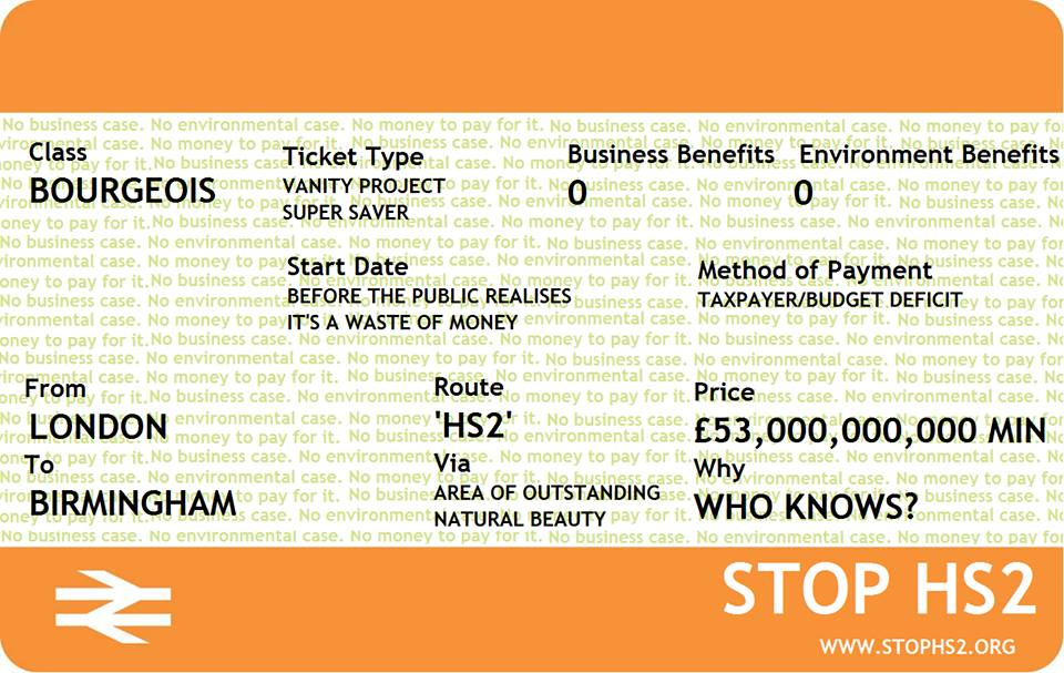 The price ticket of HS2