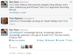 Tweets from the new HS2 Ltd lead spokesman