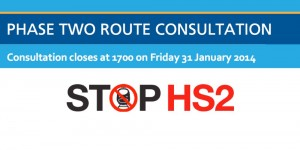 Phase 2 route consultation deadline 31st Jan 2014