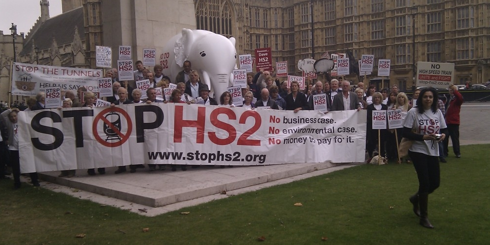 STOP HS2 protestors go to Westminster