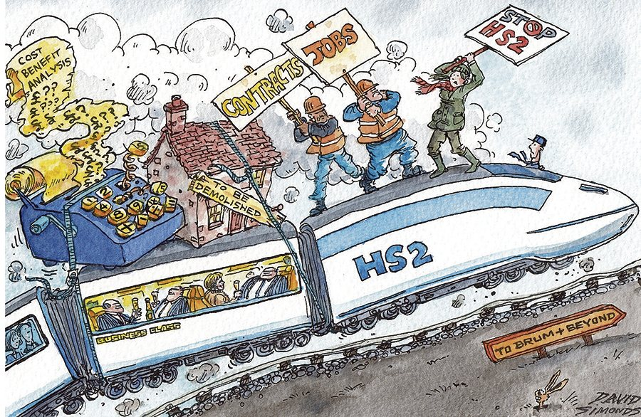 High Speed 2 cartoon by Dave Simonds