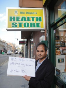"Health Store frontage ""HS2 is blighting my business"""