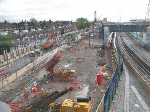 Crossrail Construction site