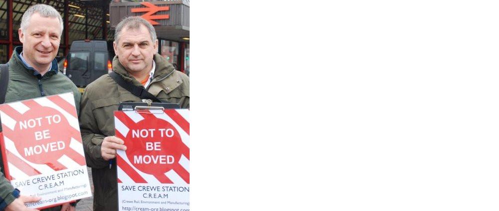 Crewe - save crewe station campaign