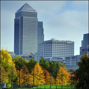 Canary Wharf - Despite what has been suggested recently, this is not in Birmingham.