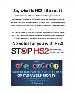 Stop <b>HS2</b> advert in House magazine