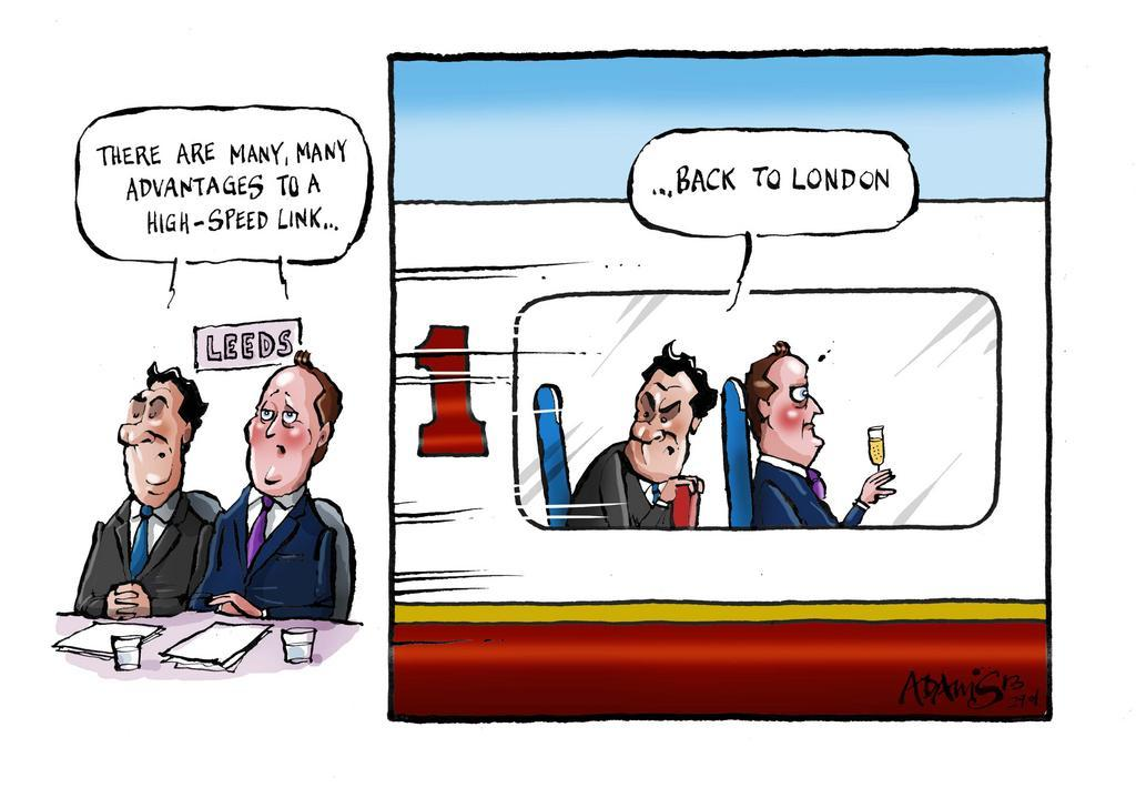 Osborne and Cameron see the advantages of High Speed Rail