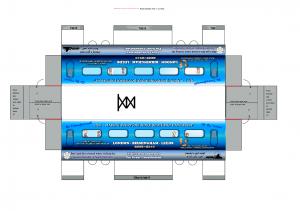 Cutout train - northbound carriage