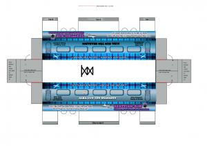 Cutout train - Scottish carriage