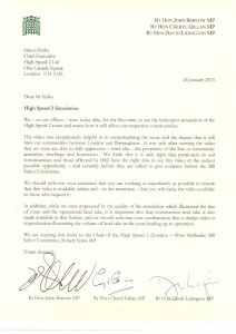 Bercow, Lidington and Gillan request that HS2 Ltd make the flyover video available