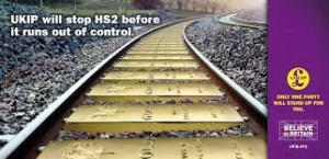 UKIP confirm scrapping HS2 as a central plank of their policy