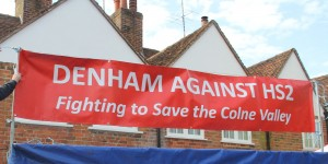 Denham Against HS2 sign at the village fete - 2015