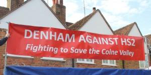 Denham Against HS2 sign at the village fete - 2015
