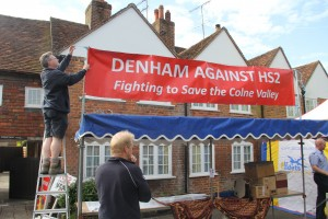 Denham Against HS2 stand at the village Fete