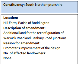 According to HS2 Ltd, taking addtional land doesn't have to affect landowners