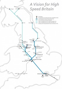 The current proposed map of HS2, which clearly shows that there wouldn't even be 'classic compatible' services between Scotland and Newcastle.