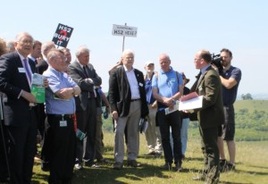 HS2 Select Committee visit to Coombe Hill © NT