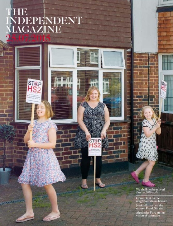 Keri Brennan and family on the cover of the Independent Weekend Magazine