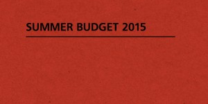 Summer Budget 2015 Frontpage