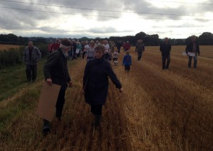 HS2 Protestors in South Heath for the visit of new HS2 Select Committee