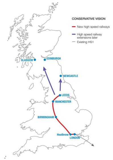 The original Bow Group proposals for HS2