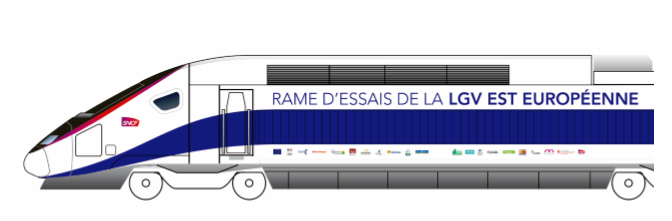 graphic of SNCF test train