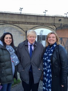 Boris Johnson, Lottie Jones and Keri Brennan