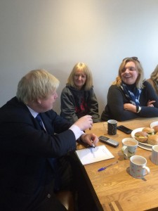 Boris Johnson meets campaigners