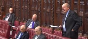 Lord Berkeley speaking in the House of Lords during the HS2 debate 14/04/2016