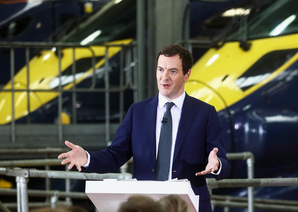 """""""It's behind you!!"""" - George Osborne fails to spot a clue to something which could be cut if there was a need for an emergency budget."""
