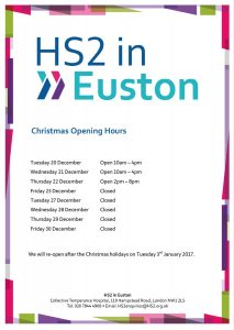 HS2 opening hours