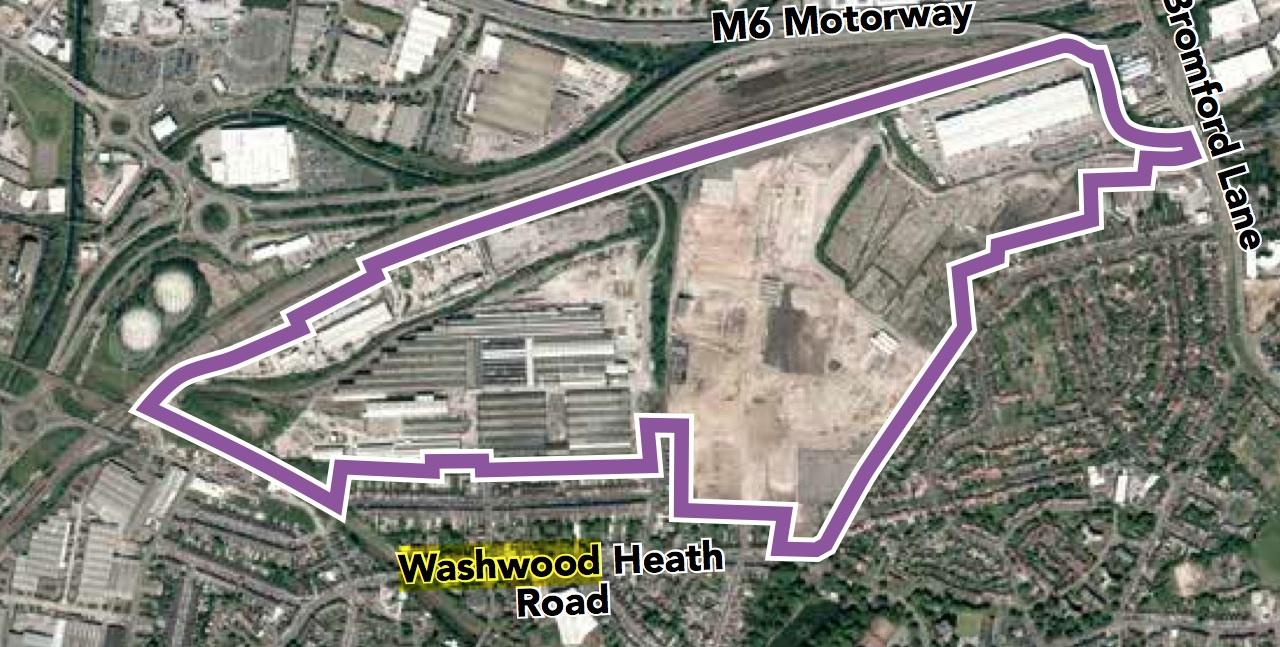 Washwood Heath Satellite view