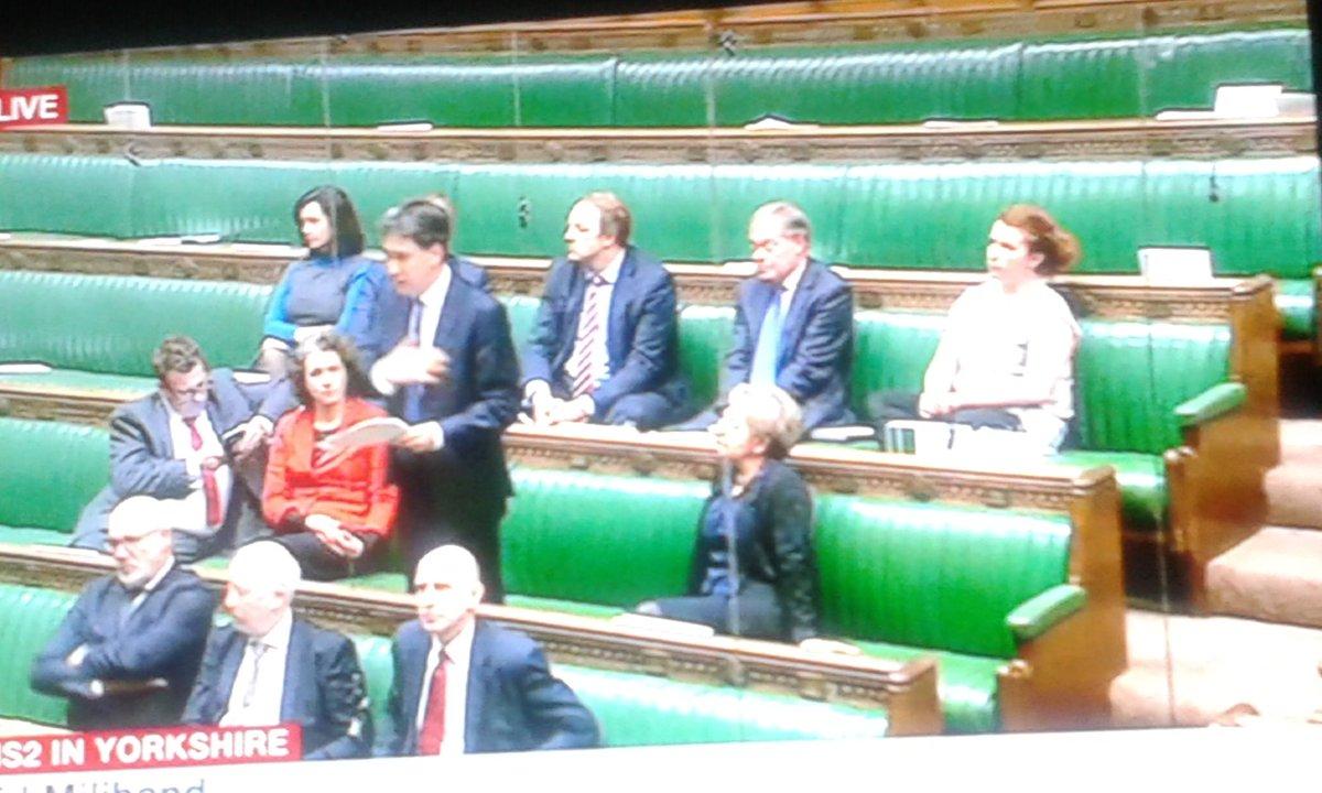 Ed Miliband speaking in debate on HS2 in Yorkshire