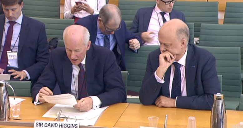 Higgins and Chris Grayling at Transport Select Committee on 19th April 2017