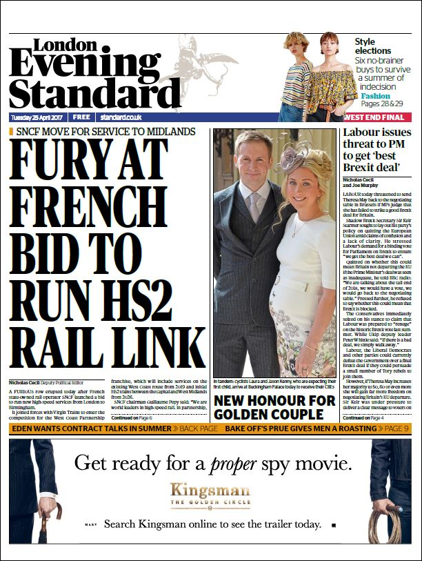 George Osborne clearly upset the French have bid as he and his family had put so much work into trying to get Chinese & Japanese interest in HS2