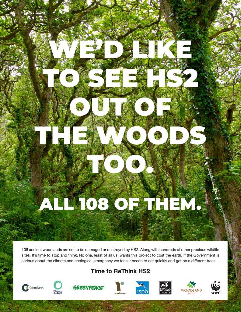 Rethink HS2 advert published 3rd September 2019